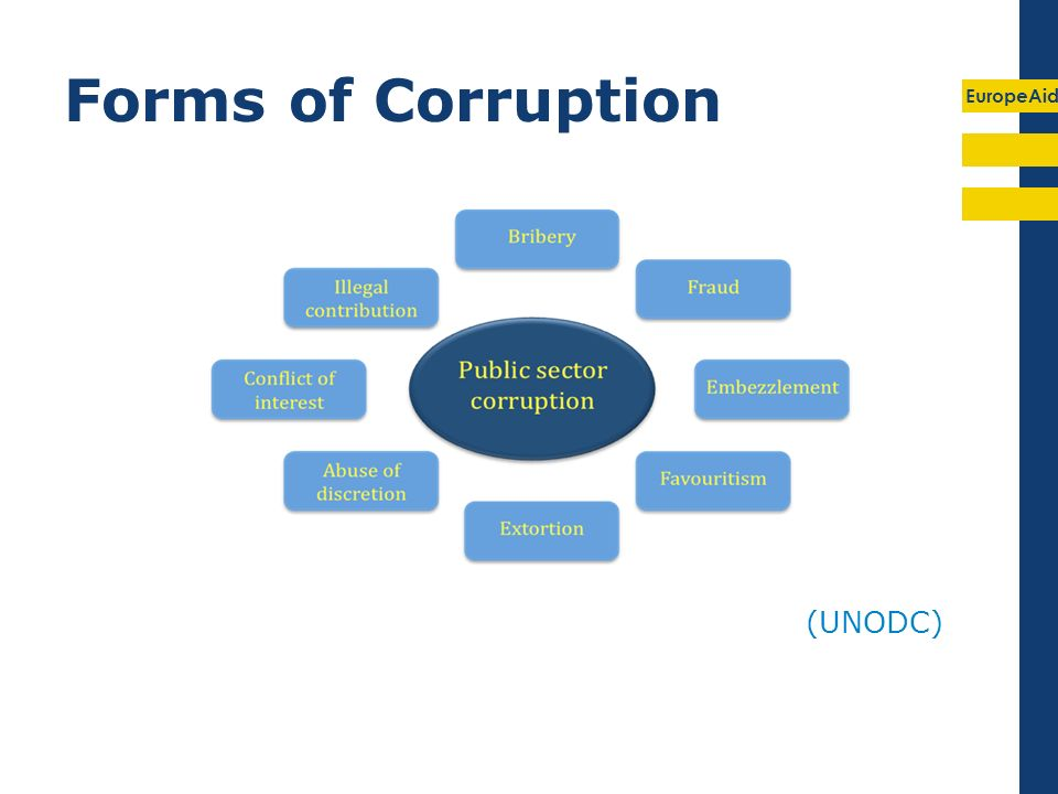 EuropeAid Forms of Corruption (UNODC)