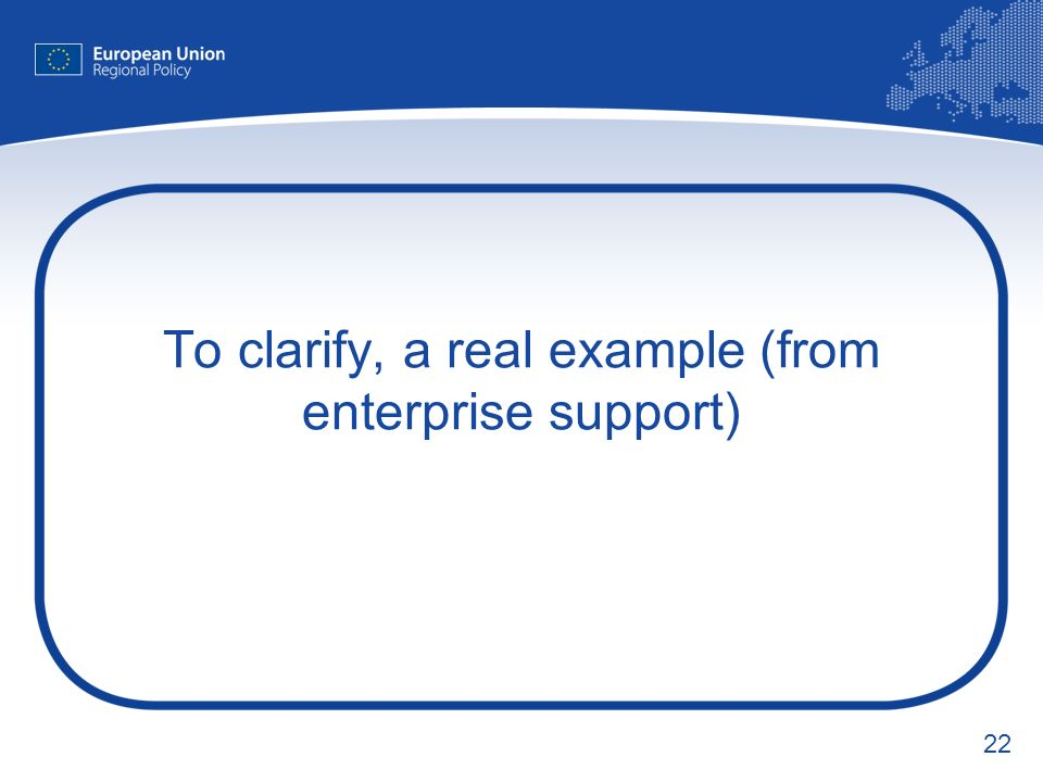 22 To clarify, a real example (from enterprise support)