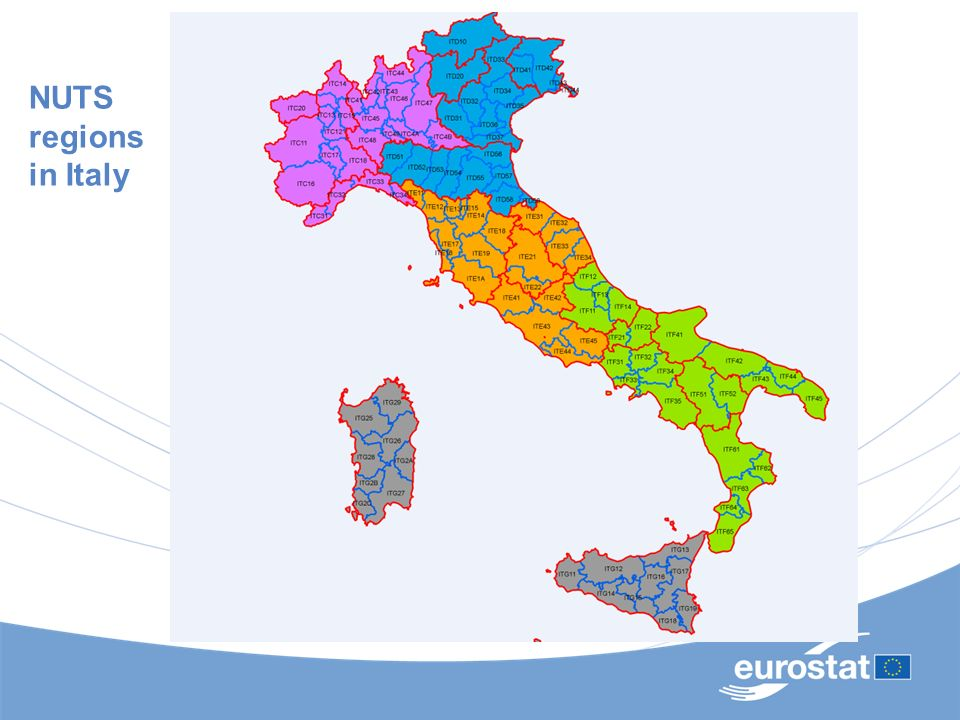 Available regional Statistics DomainContent NUTS Level Legal Base Economic accounts Gross Value Added and GDP Growth of real GDP Compensation of employees Employment Gross Fixed Capital Formation Household accounts NUTS 2 or NUTS 3 European System of National Accounts Regulation DemographyPopulation and area Population change Population projections Regional level census 2001 round NUTS 2 or NUTS 3 Regulation for census every 10 years, gentleman s agreement Labour Market Economically active population Employment and unemployment Socio-demographic labour force statistics Labour market disparities NUTS 2 or NUTS 3 Yes Labour CostLabour cost surveys (1996, 2000, 2004)NUTS 1Yes