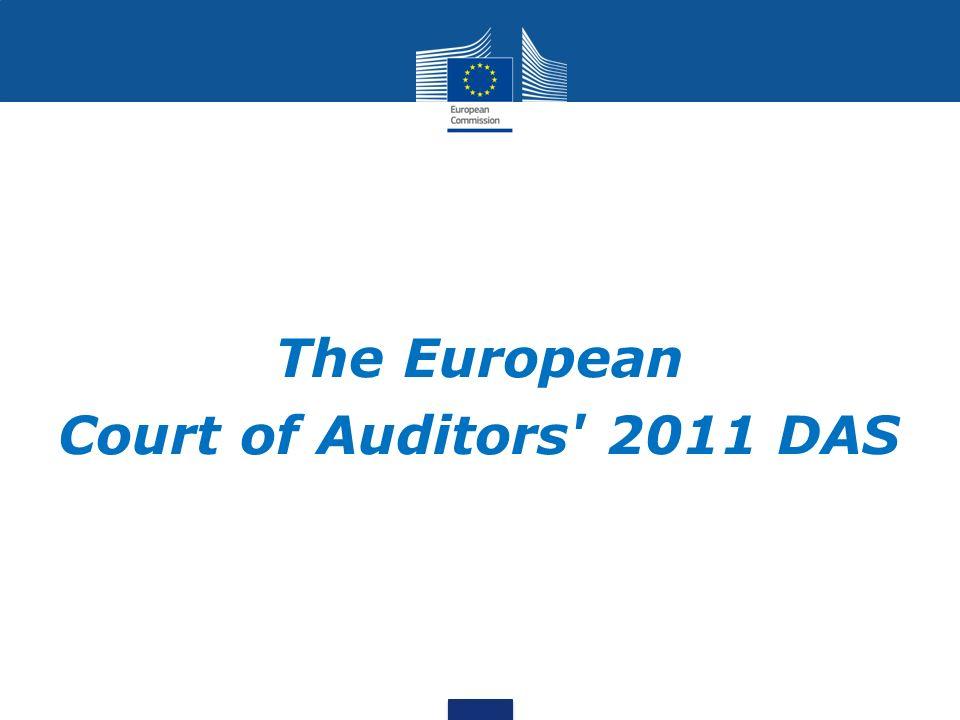 The European Court of Auditors' 2011 DAS