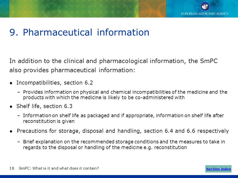 Information on specific situations (8/8) Effects on ability to drive and use machines (section 4.7) Based on the safety profile of the drug, informati