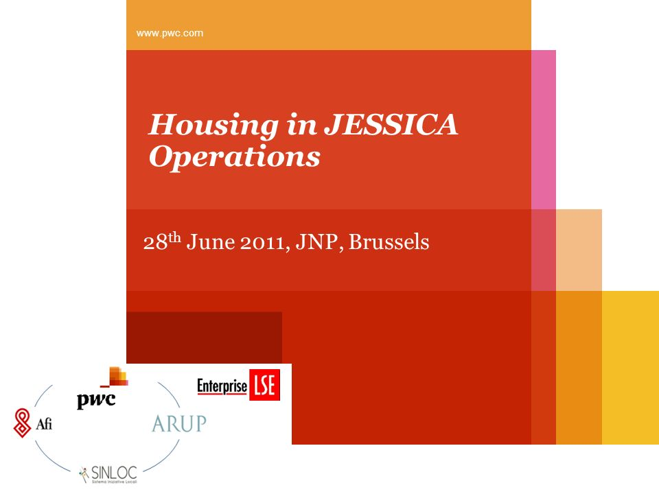 Housing in JESSICA Operations 28 th June 2011, JNP, Brussels