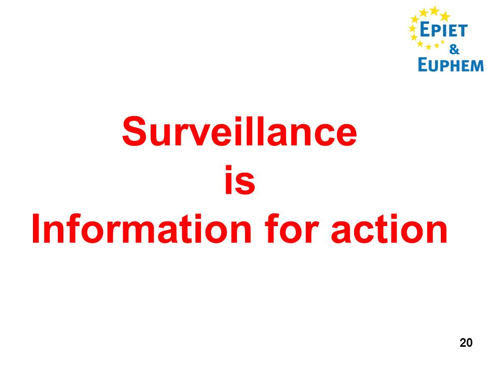 & 20 Surveillance is Information for action