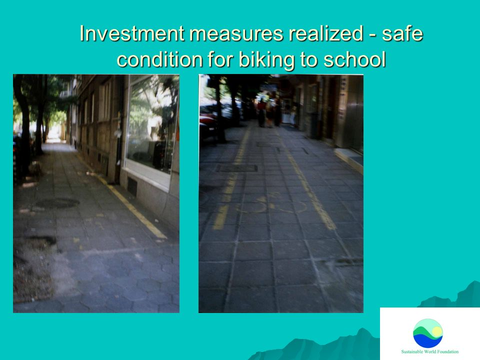 Investment measures realized - safe condition for biking to school