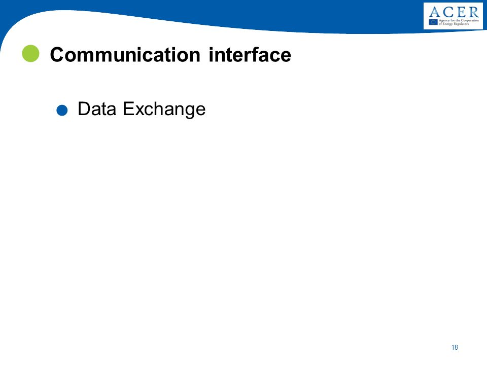 18 Communication interface. Data Exchange
