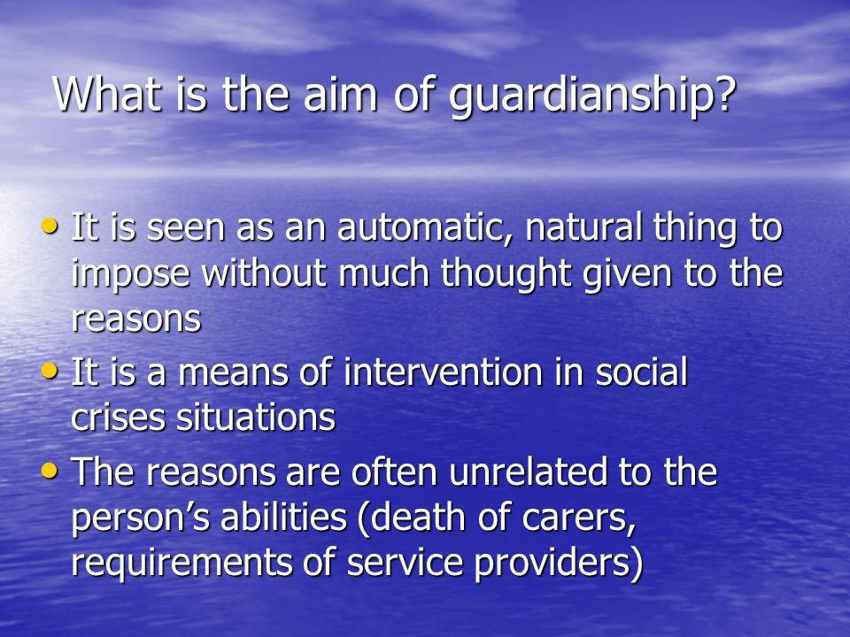 Current ECHR standards Prohibition of plenary guardianship – Shtukaturov v.