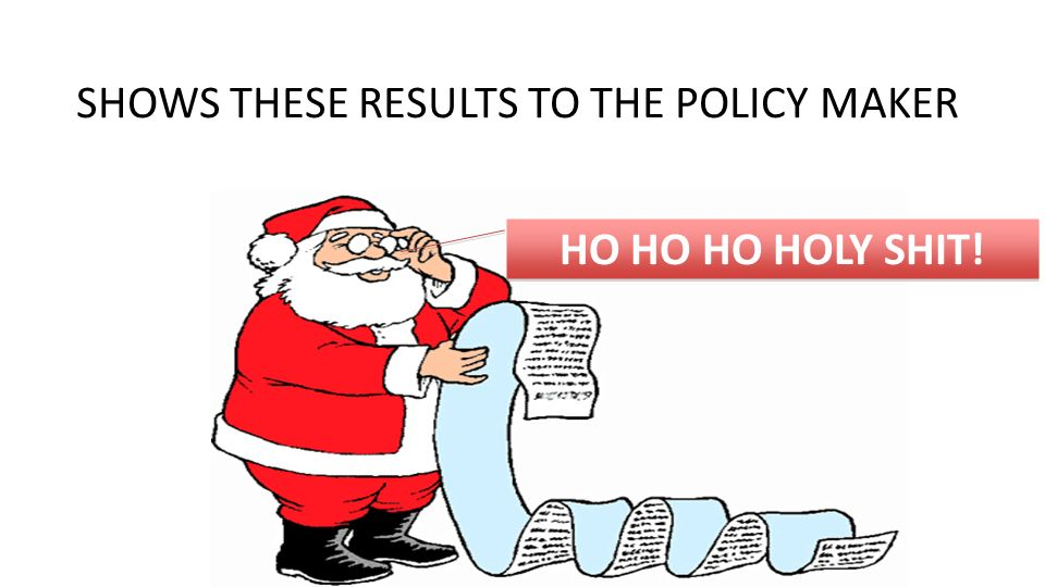 page SHOWS THESE RESULTS TO THE POLICY MAKER HO HO HO HOLY SHIT!