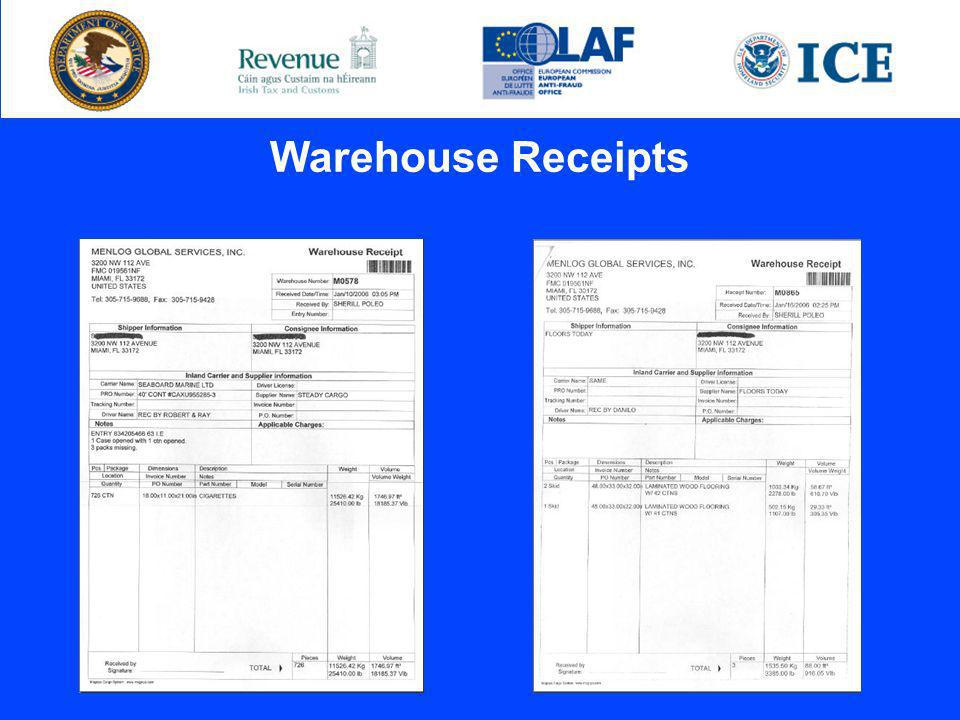 Warehouse Receipts