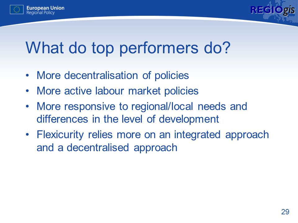 29 REGIO gis What do top performers do.