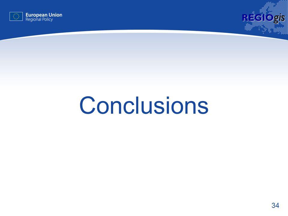 34 REGIO gis Conclusions