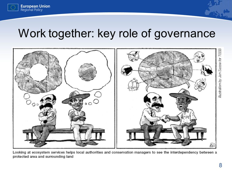 8 Work together: key role of governance
