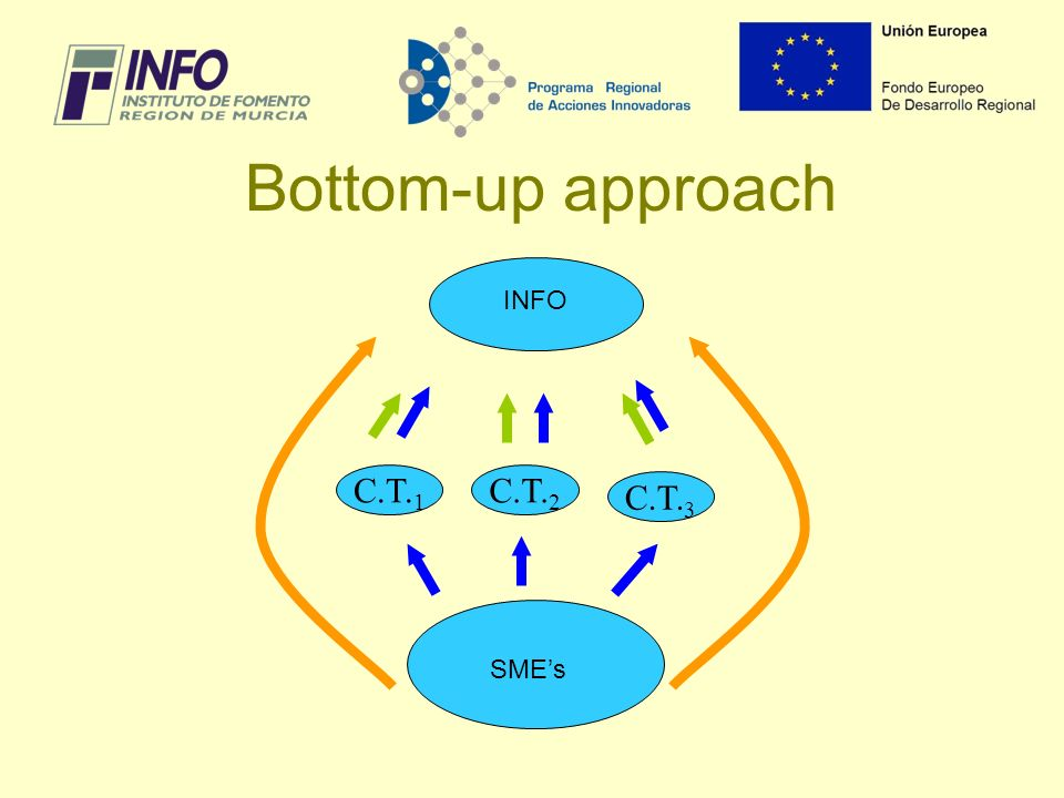 Bottom-up approach C.T. 1 C.T. 2 C.T. 3 INFO SMEs