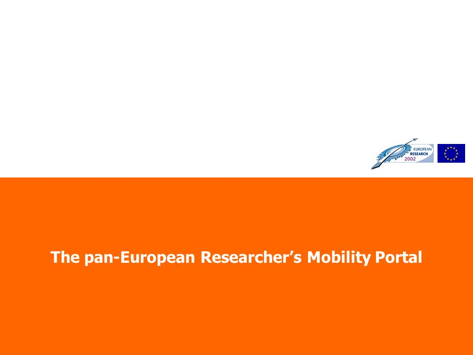 The pan-European Researchers Mobility Portal