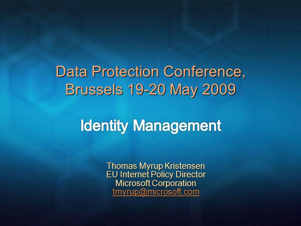 Thomas Myrup Kristensen EU Internet Policy Director Microsoft Corporation tmyrup@microsoft.com