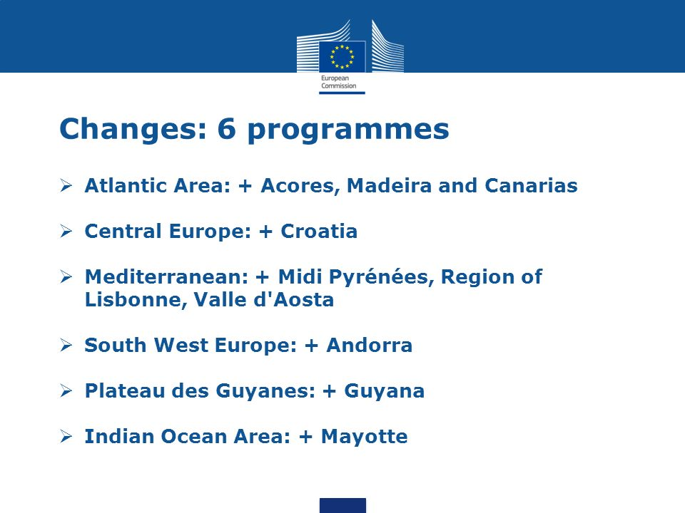 South East Europe programme split into 2 new programmes to match the EU Strategies for the Danube and the Adriatic and Ionian Regions Danube Adriatic-Ionian