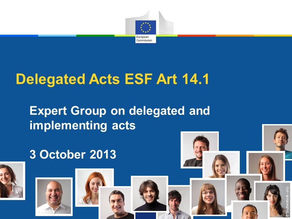 Objective of this presentation - Reminder of the principles of Article 14.1 ESF - Present main elements of the DA & procedures