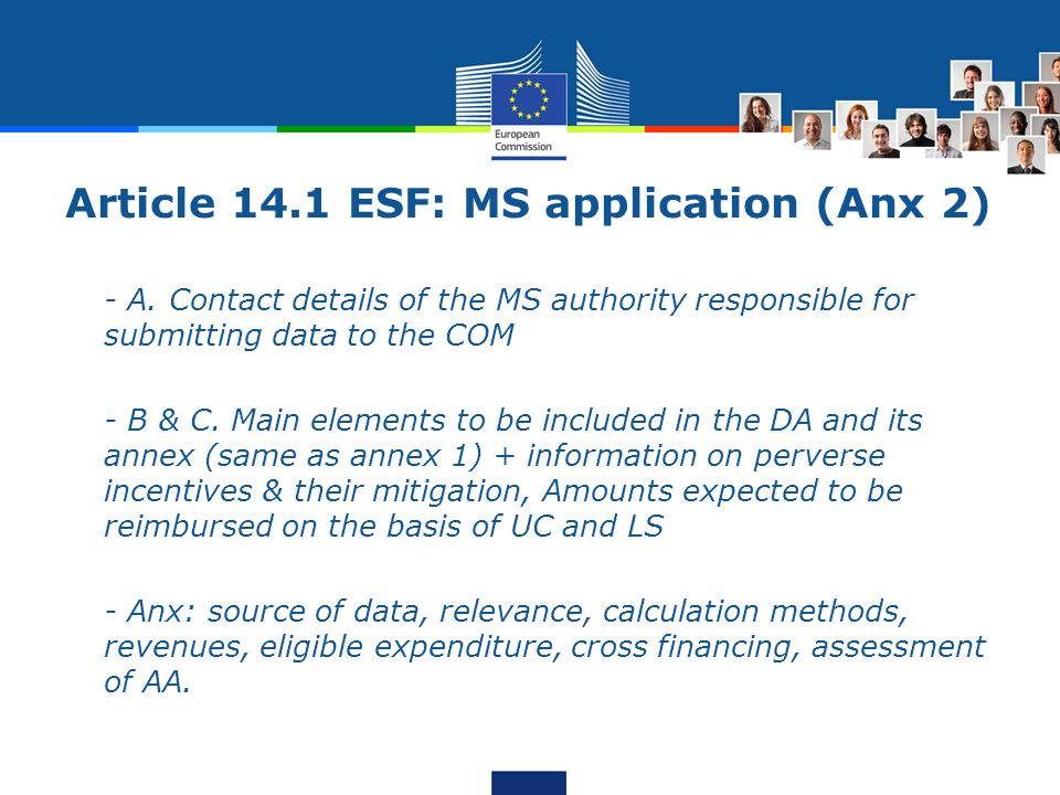 Article 14.1 ESF: MS application (Anx 2) - A.