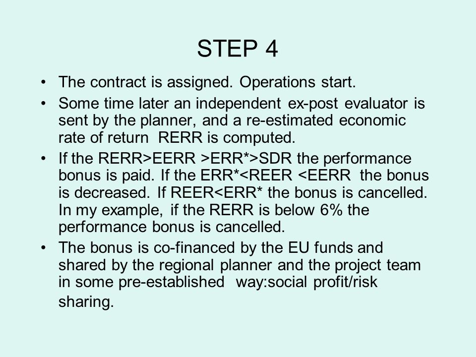 STEP 4 The contract is assigned. Operations start.