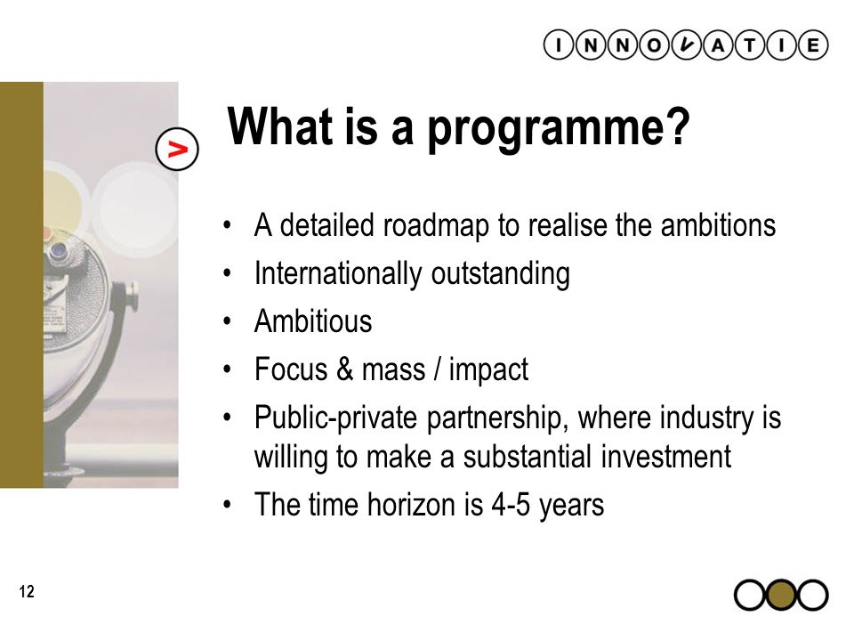 12 What is a programme.