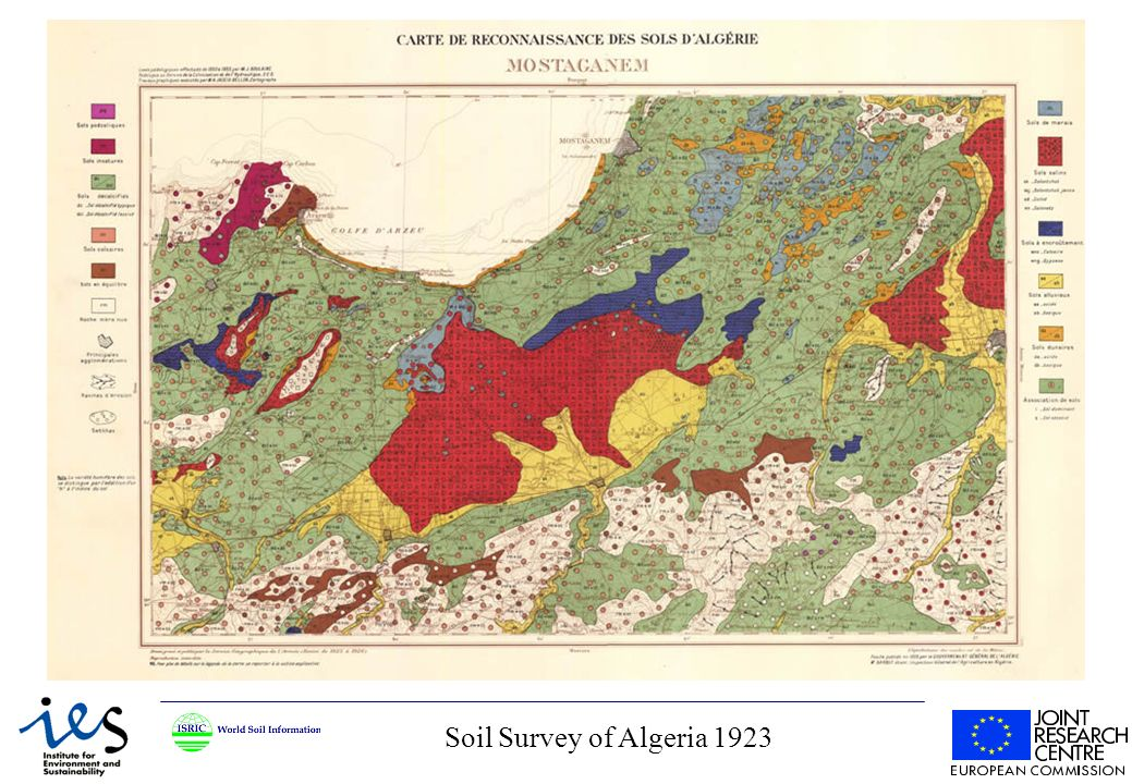 Soil Survey of Algeria 1923