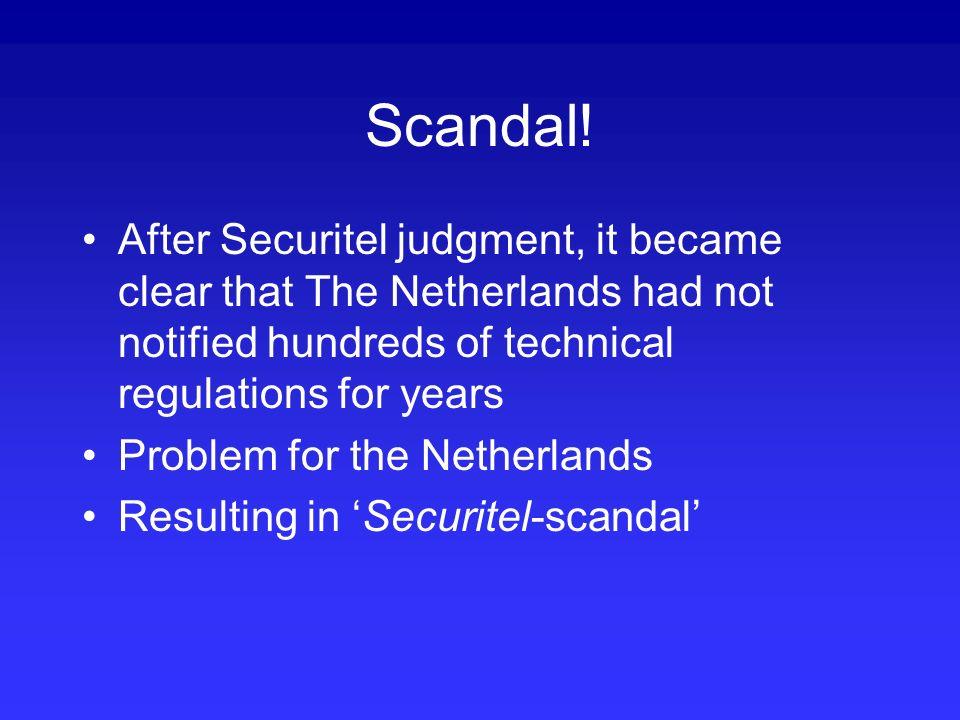 Scandal.