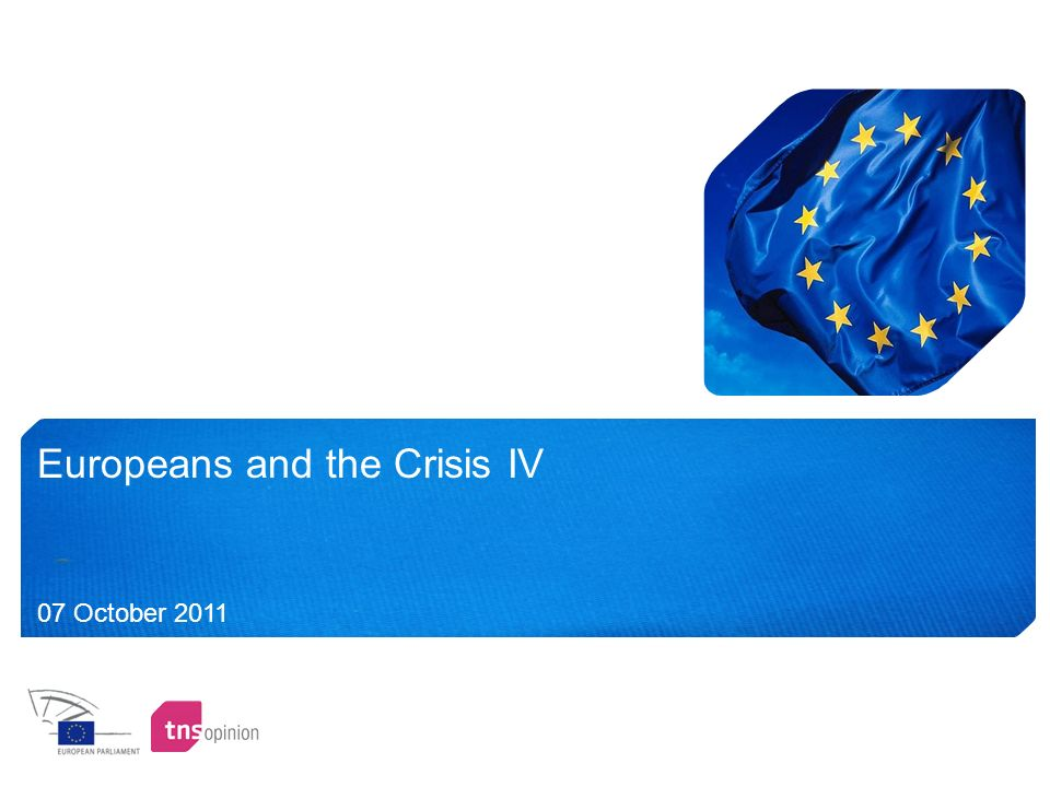 Europeans and the Crisis IV 07 October 2011