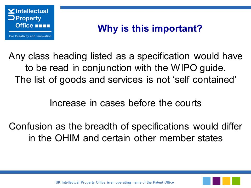 Any class heading listed as a specification would have to be read in conjunction with the WIPO guide.