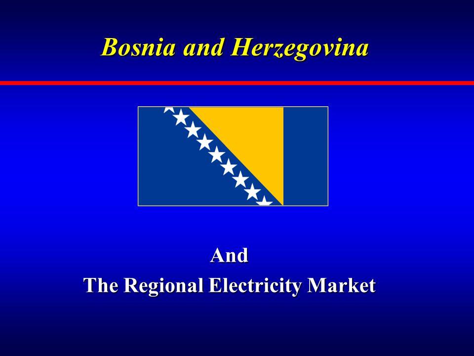 Bosnia and Herzegovina And The Regional Electricity Market
