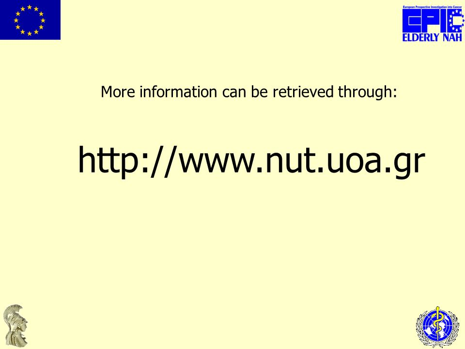 More information can be retrieved through: http://www.nut.uoa.gr