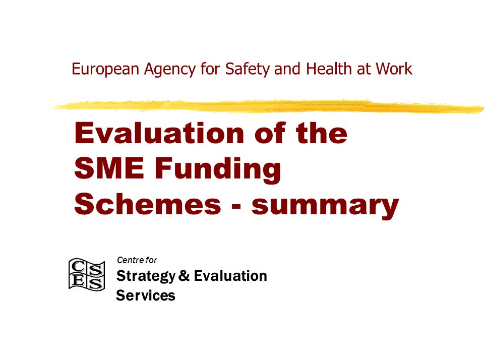 Centre for Strategy & Evaluation Services Recommendations – New Member States Whilst a transfer of know-how from the Agencys EU15 SME Funding Scheme to the New Member States (NMSs) is desirable, this should be a two-way process.