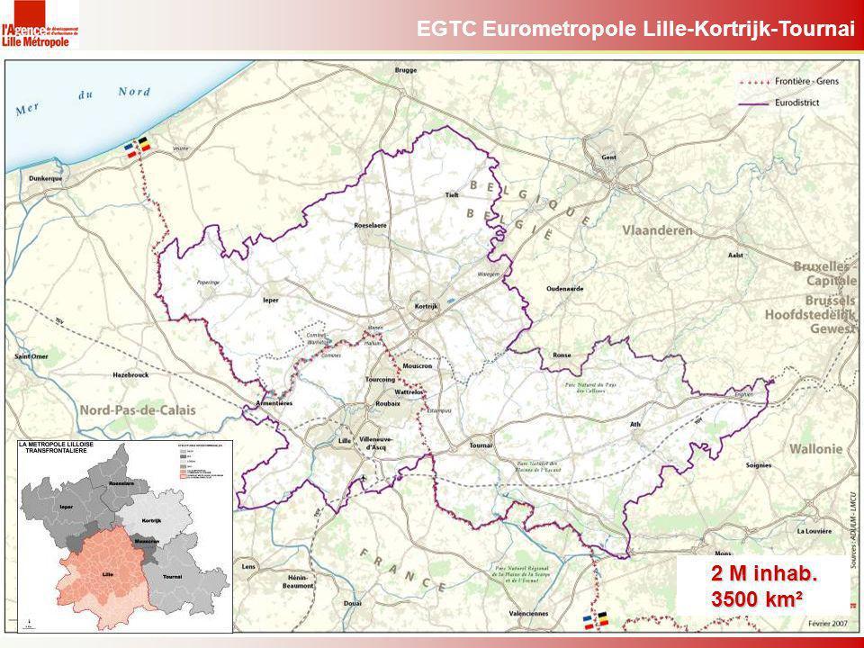 EGTC Eurometropole Lille-Kortrijk-Tournai 2 M inhab. 3500 km²