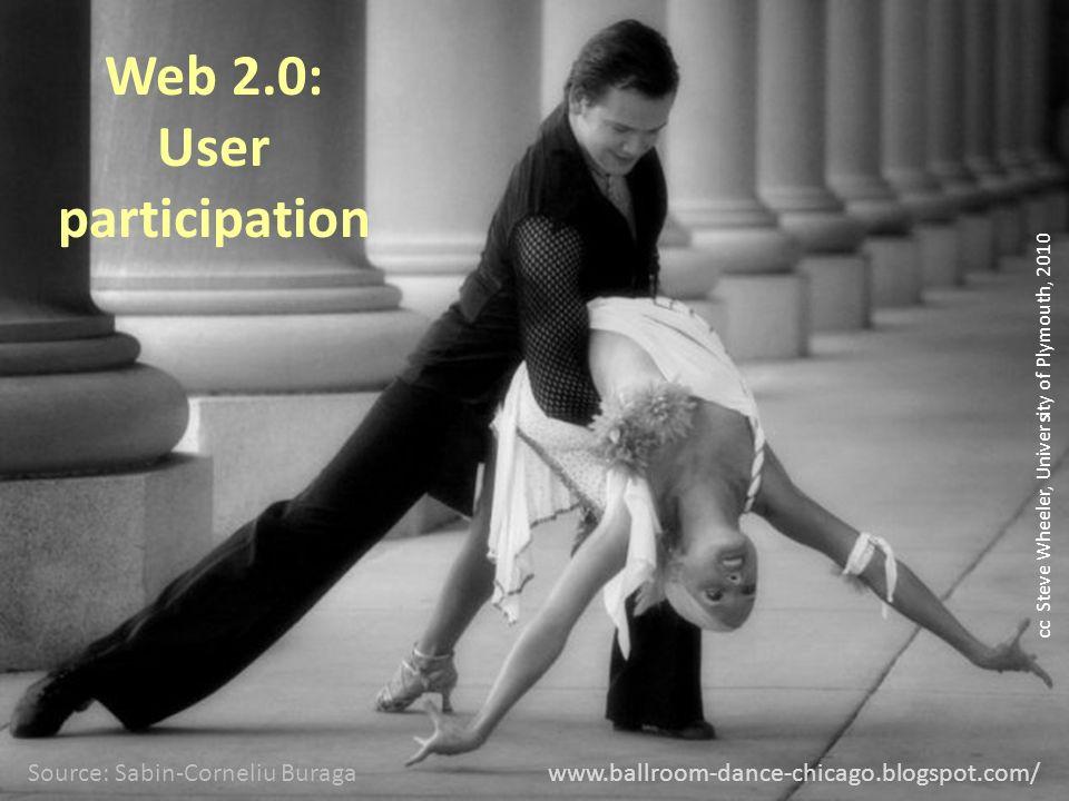www.ballroom-dance-chicago.blogspot.com/ Web 2.0: User participation Source: Sabin-Corneliu Buraga cc Steve Wheeler, University of Plymouth, 2010