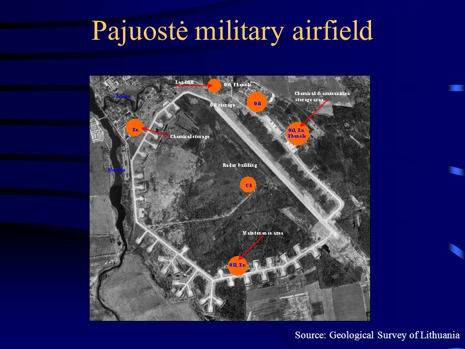 Pajuostė military airfield Source: Geological Survey of Lithuania