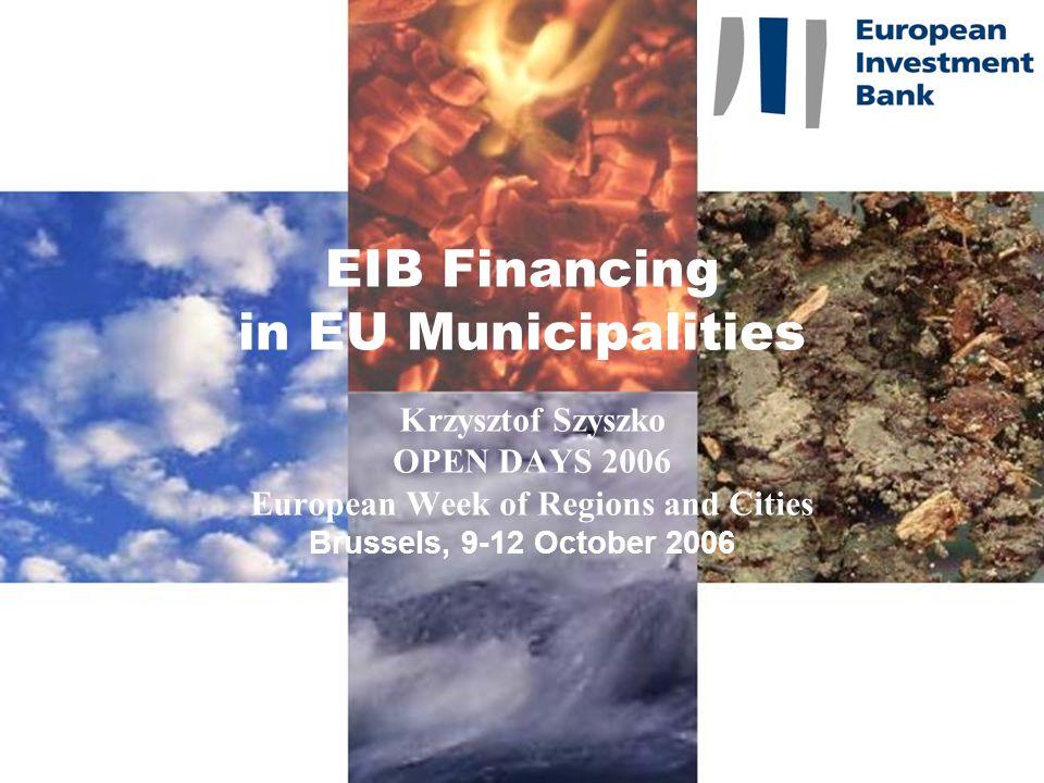 22 CONTACT European Investment Bank Lending Operations in Poland Fax: +352 43 79 74 98 Krzysztof Szyszko, Loan Officer, Tel: +352 43 79 74 59 szyszko@eib.org http://www.eib.org/