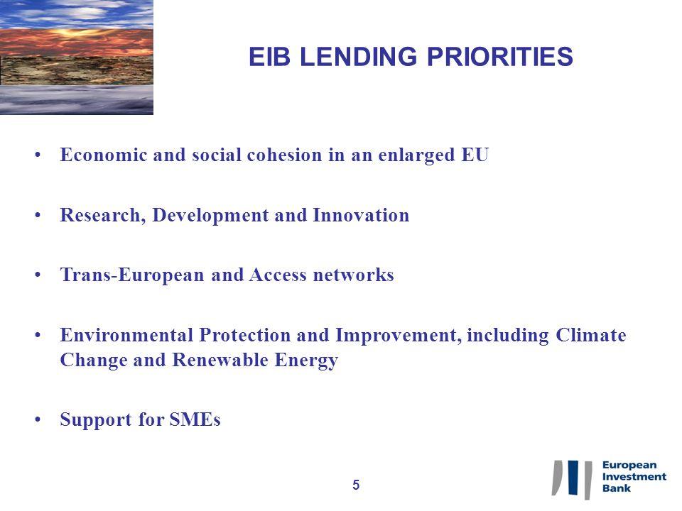 16 HOW IS THE EIB LENDING.