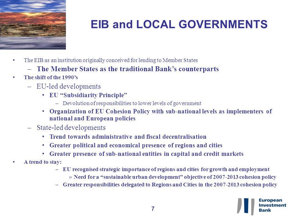 18 EIB COUNTERPART REQUIREMENTS.