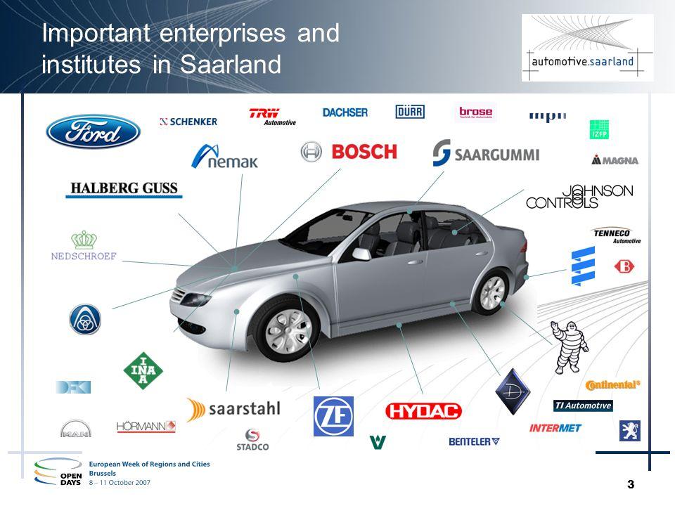 3 Important enterprises and institutes in Saarland
