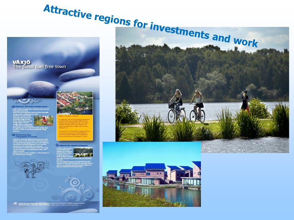 Attractive regions for investments and work