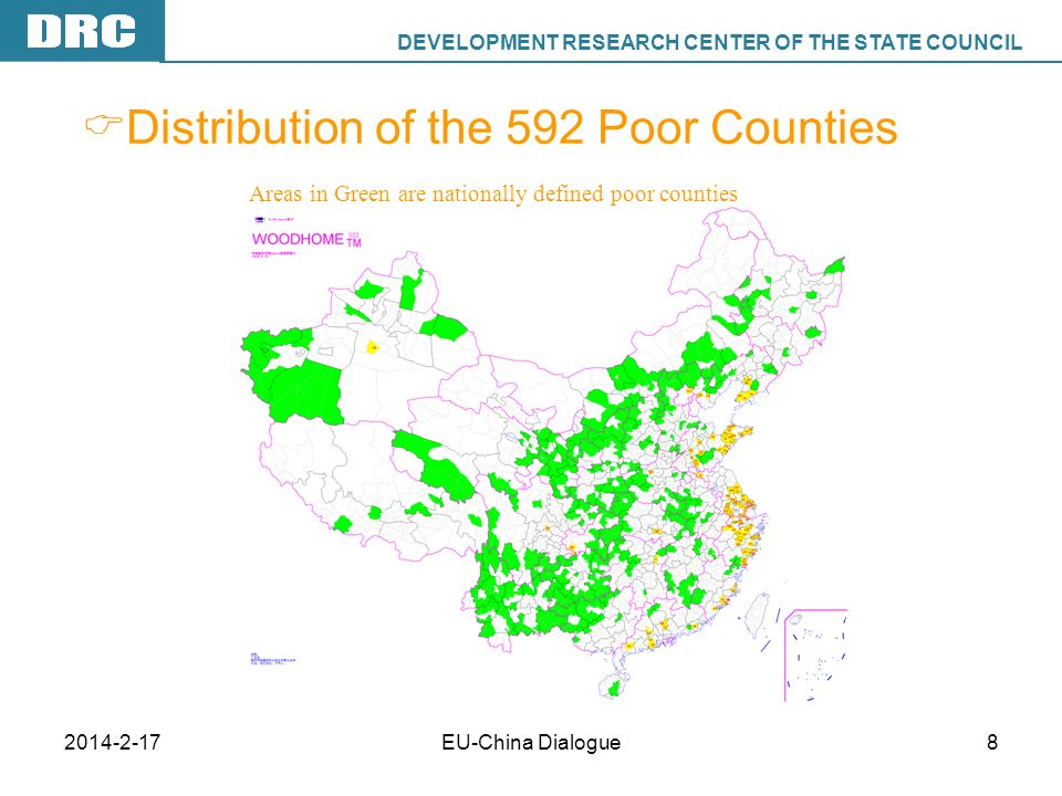 DEVELOPMENT RESEARCH CENTER OF THE STATE COUNCIL DRC 2014-2-17EU-China Dialogue9 Results of Anti-Poverty Policies