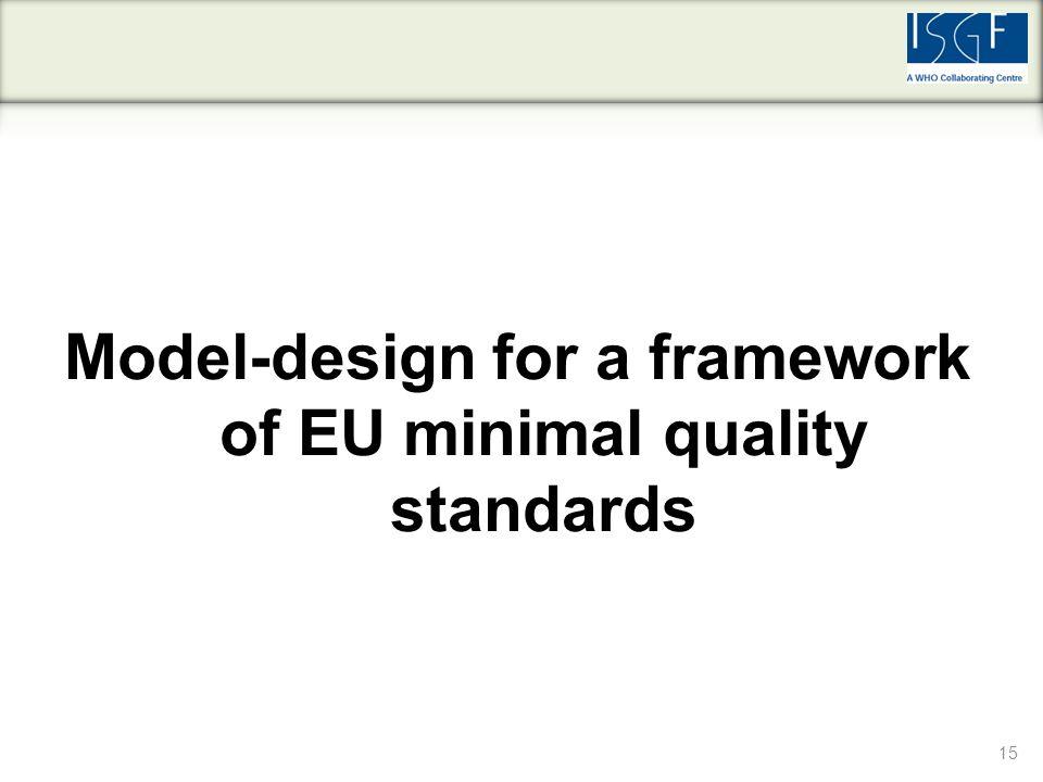 15 Model-design for a framework of EU minimal quality standards