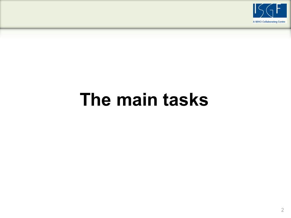 2 The main tasks