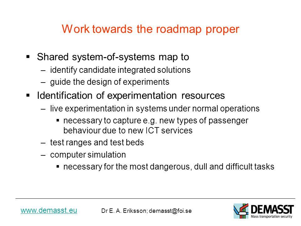 www.demasst.eu Dr E.A. Eriksson; demasst@foi.se B.