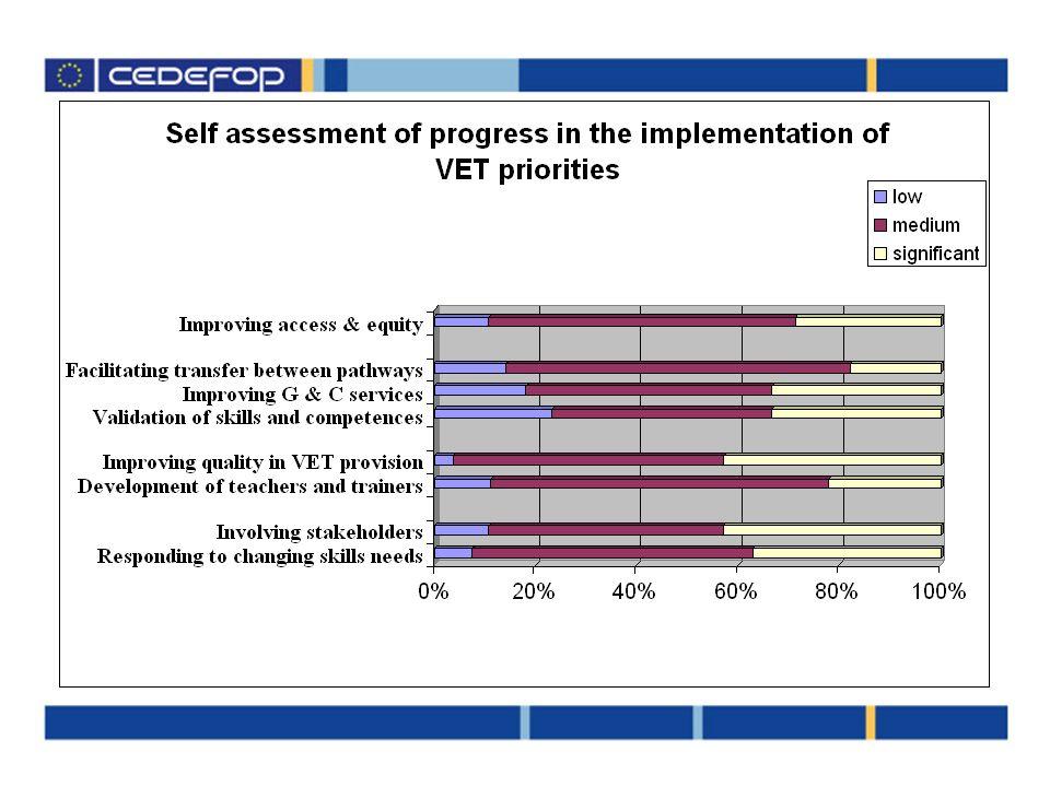 DGVTs self assessment on progress