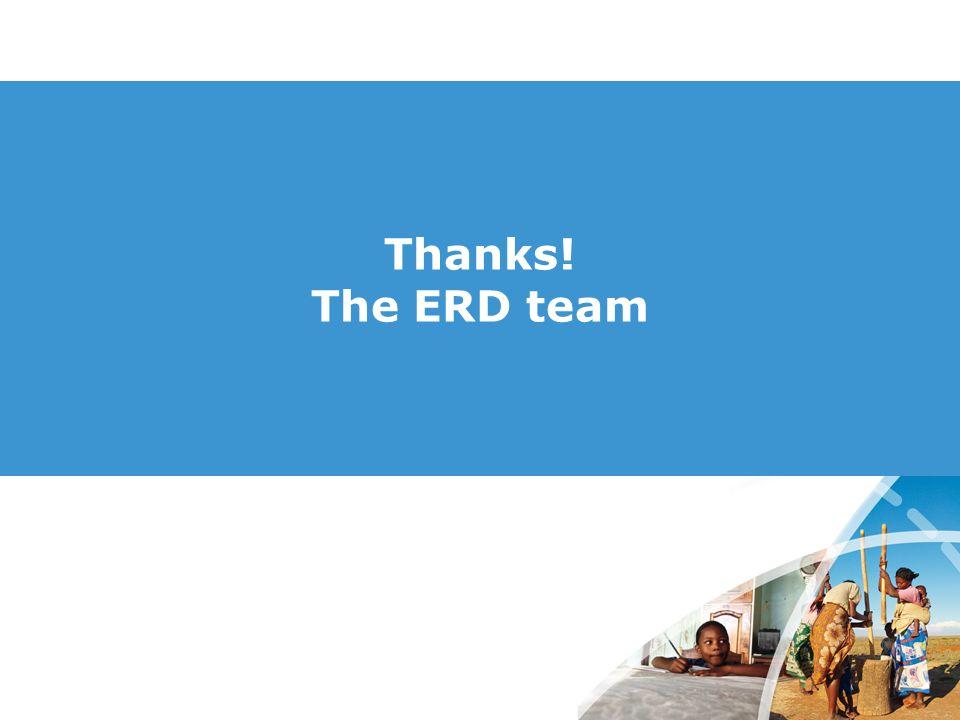 Thanks! The ERD team
