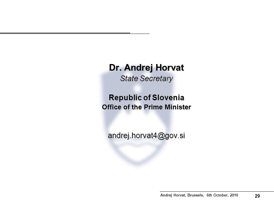 28 Potential areas of place based intervention in Slovenia 44,7% of territory, 20,6% of population, 10,4% of employed, 8,6% of value added, 6% net profit.