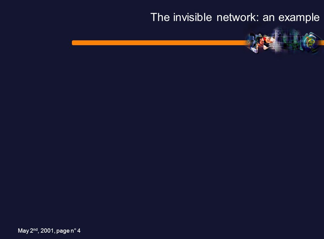 May 2 nd, 2001, page n° 4 The invisible network: an example