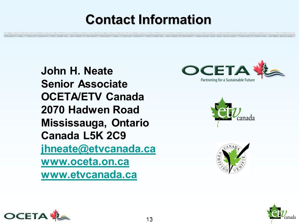 13 Contact Information John H.
