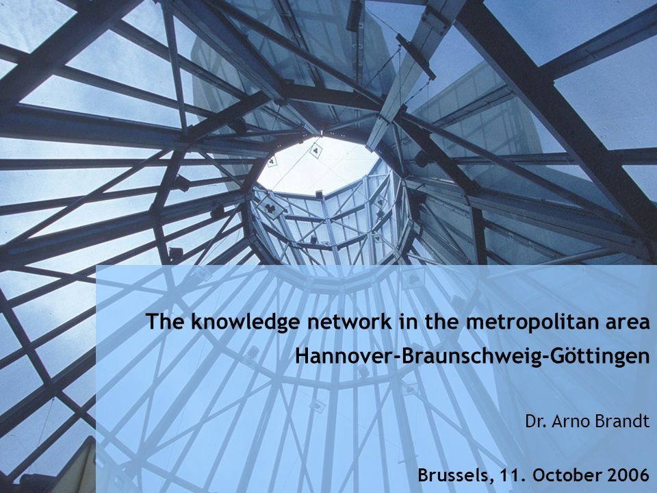 Metropolregion H-BS-GÖ The knowledge network in the metropolitan area Hannover-Braunschweig-Göttingen Dr.