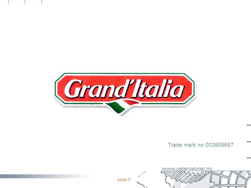 page 5 Trade mark no 003959657
