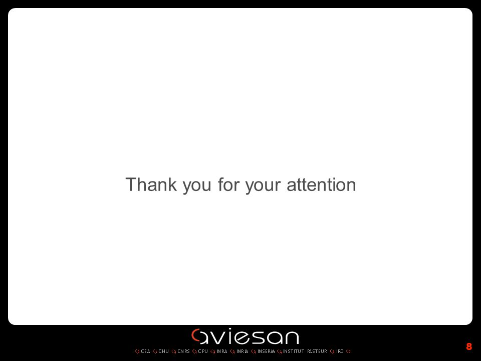 Thank you for your attention 8